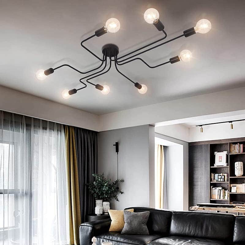 Lampe im Vintage Look im Wohnzimmer